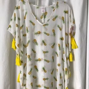 NWT Xhilaration pineapple coverup